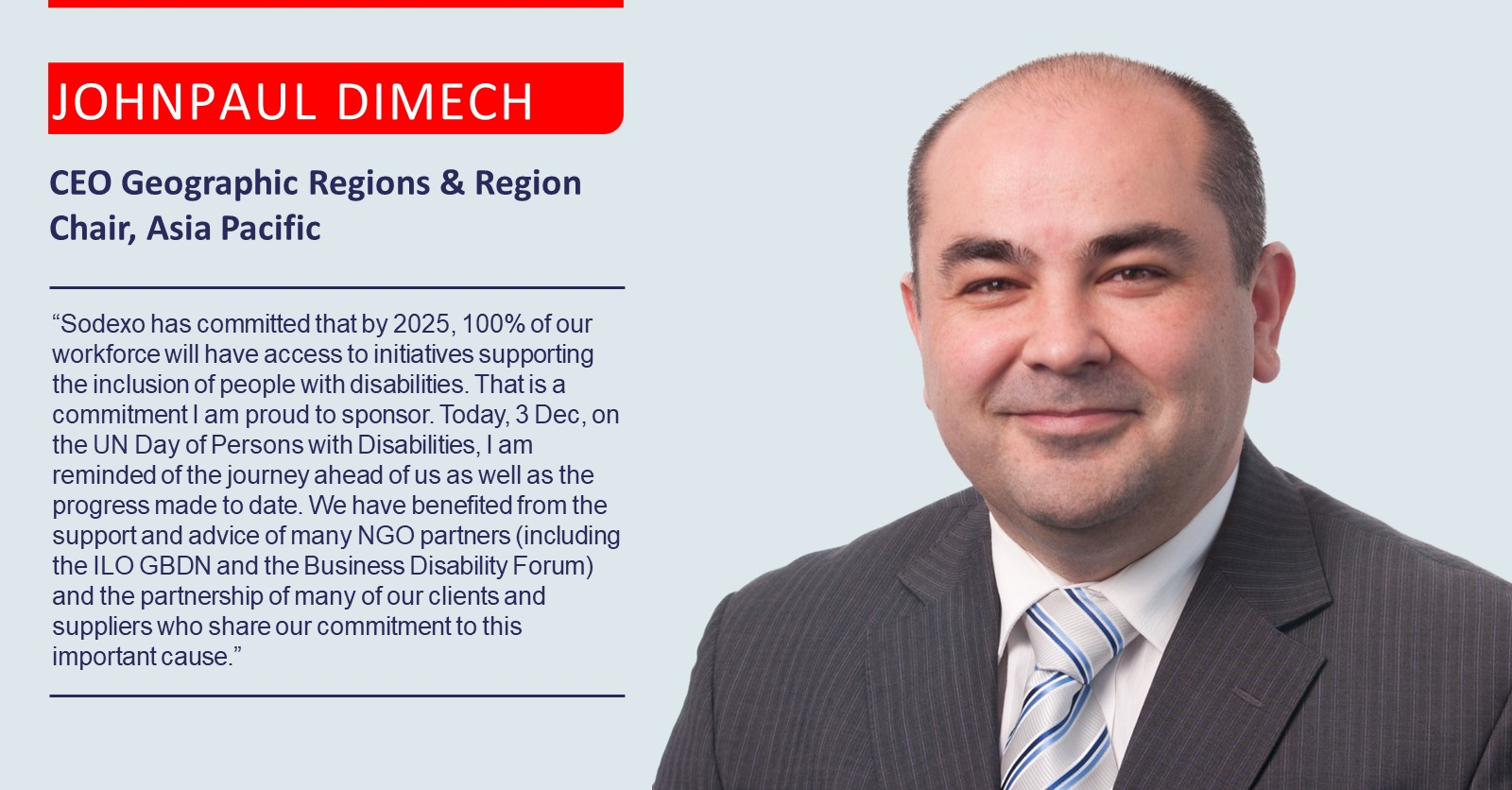 Quote from Johnpaul Dimech – CEO Geographic Regions & Region Chair, Asia Pacific, accessible version available below.